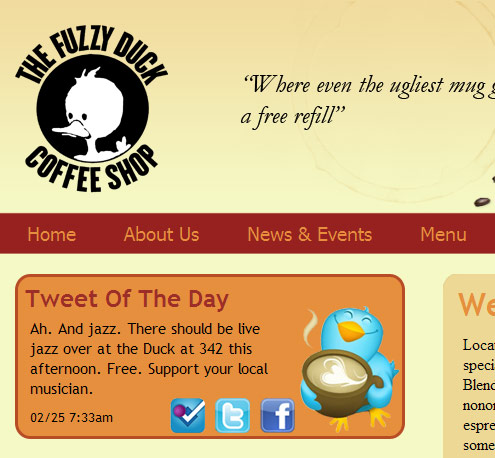 Troxell Web Design Launches Re-Designed Fuzzy Duck Coffee Website